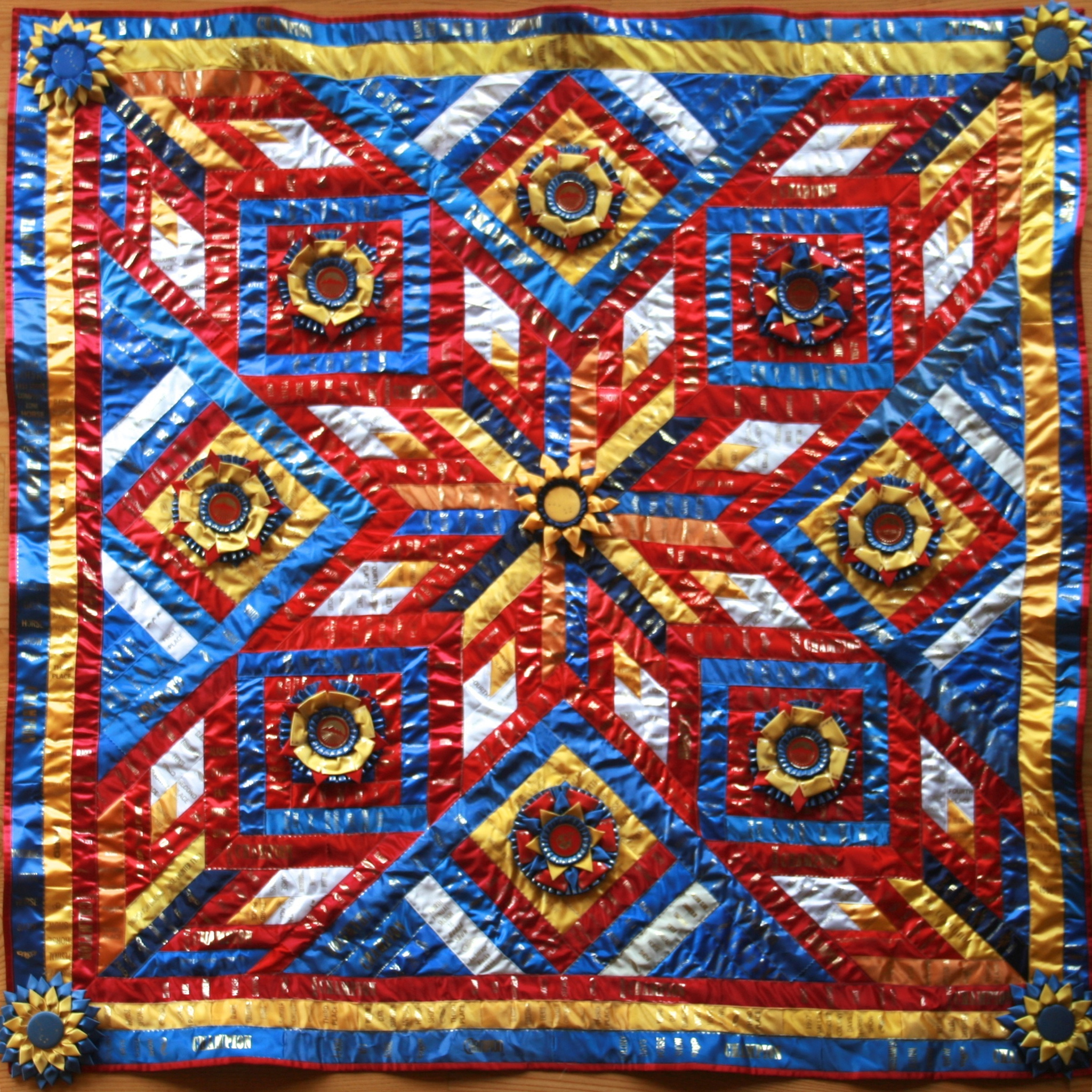 ShowThrow Heirloom Ribbon Quilts by Lani B. Ohly : quilt horse - Adamdwight.com