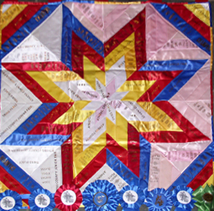 small ribbon quilt